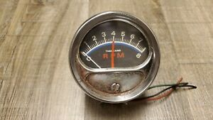 Vintage Dixco Tachometer With Steering Column Mounting Cup