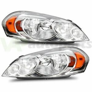 Fits Chevy Impala 2006 2013 Headlights Assembly Pair Headlamp Left Right Sides