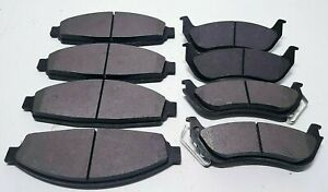 Front Rear Brake Pads Md748 Md674a Blk For 1998 02 Crown Vic Marquis Town Car