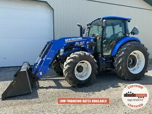 2019 New Holland Powerstar 100 Tractor W Loader Cab 540 Pto Heat Ac 807 Hrs