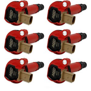 Msd 82576 Ford Red Ecoboost 6 Pack Coils 3 5l V6 3 Pin Connector