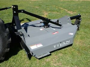 New Titan 1205b 60 Rotary Cutter For Compact Tractors 1 5 Capacity Fits Many