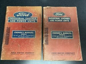Vintage Ford Industrial Engines E 134 D 172 And Je 134 Jd 172 Owner Manuals