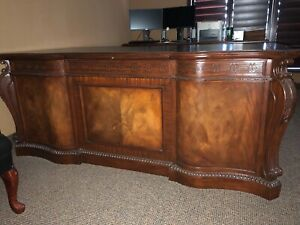 Executive Desk Credenza Hutch Set gorgeous Must See