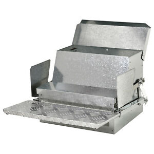 Automatic 25lb Chicken Feeder Galvanized Steel Poultry Feeders 25 Lbs Of Feeds
