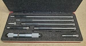 Starrett No 823 Inside Micrometer 4 To 24 W Protective Case Made In Usa