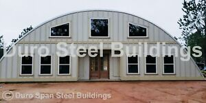 Durospan Steel 55x36x19 Metal Quonset Building Diy Home Kits Open Ends Direct