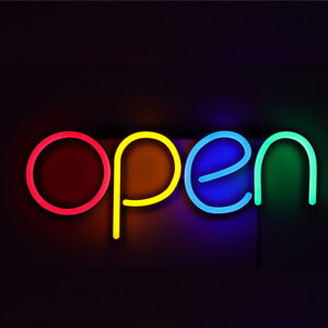 Open Business Sign Neon Lamp Integrative Bright Led Store Shop Advertising Light