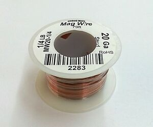 New 20 Gauge Insulated Magnet Wire 1 4 Pound Roll 79 Approx Length 20awg