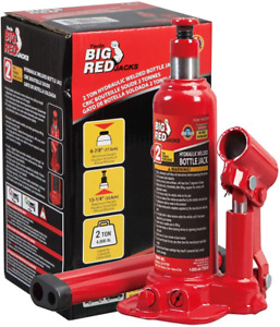 Big Red T90203b Torin Hydraulic Welded Bottle Jack 2 Ton 4 000 Lb Capacity Red