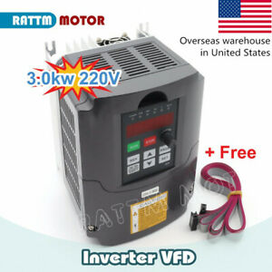 in Us huanyang 3 Kw 220v 4hp 13a Variable Frequency Drive Spindle Speed Control