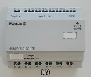 preowned Moeller Easy 620 dc te I o Expansion 8x Transistor 5a Warranty