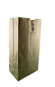 Paper Grocery Lunch Bag Brown Kraft Paper 8 Lb 100 Count Standard Duty