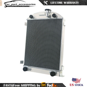 4 Rows Racing Radiator For 1932 Ford Hot Rod Rat Rod Stock Height Flat Head V8