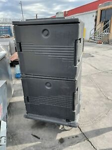 Cambro Upc1600 Insulated Food Carrier W 24 Pan Capacity Black