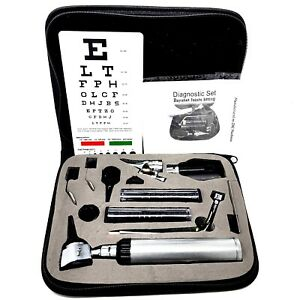 Ent Opthalmoscope Ophthalmoscope Otoscope Nasal Diagnostic Set Kit With Case