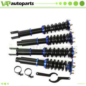 For 2008 2012 Honda Accord Complete Coilovers Kits Struts Shocks Adj Height