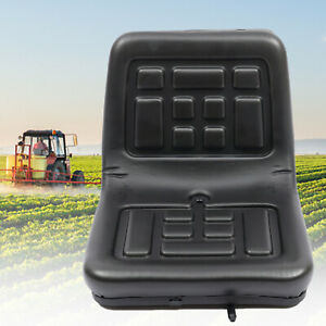 Tractor Seat Universal Lawn Mower Tractor Seat Back Pu Leather Waterproof Black