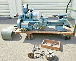 South Bend 9 x 36 Precision Belt Driven Lathe With 3 4 Jaw Chucks And Tolling