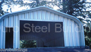 Durospan Steel 30x48x14 Metal Garage She Shed Man Cave Building Factory Direct