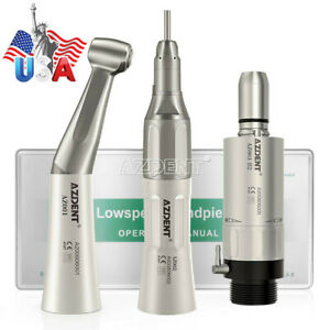 Usa Nsk Style Dental Slow Low Speed Handpiece Straight Contra Angle Air Motor 2h