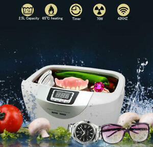 2 5l 70w Digital Ultrasonic Cleaner Jewellery Watch Sonic Clean Timer Cleaning