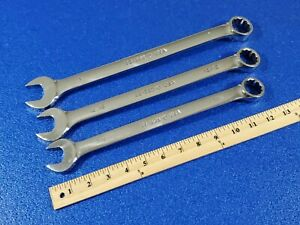 3pc Armstrong Long Combination Wrench Set 7 8 25 228 15 16 25 230 1 25 232
