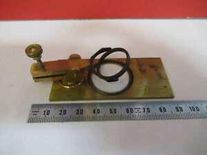 Antique Brass Nachet Stage Assembly France Microscope Part As Pictured f6 b 26