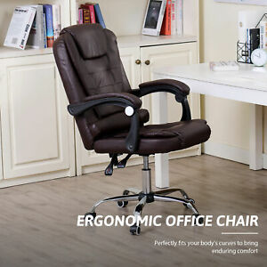 Ergonomic Office Chair With Recline Massage Height Adjustable Home Desk Chair