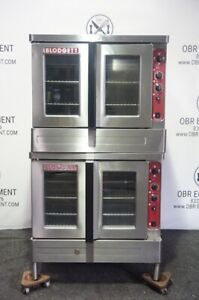 Blodgett Full Size Double Stacked Electric Convection Oven Model Mark v