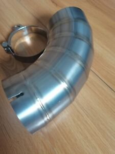 Universal Clamp On Titanium Exhaust Tip Jdm Dolphins Style In 76mm 3