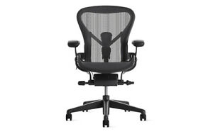 Authentic Herman Miller Aeron Chair Size C Large Design Within Reach