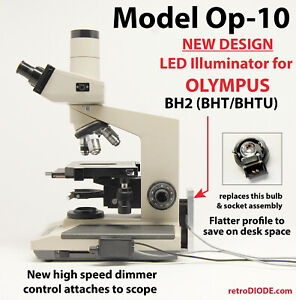 Led Retrofit Kit With Dimmer Control For Older Olympus Bh2 bhtu Microscopes