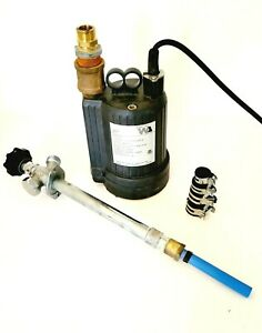 Water Ace Submersible 1 6 Hp Utility Pump And Extension R6s
