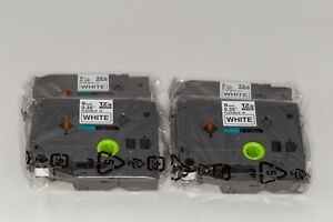 4 Pack Brother Oem Tze fx221 Black On White 9 Cm Flexible Id Label Tapes