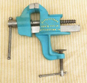 Restored Vtg Littlestown Pa Usa No 3 2 3 8 Wide Jaws Small Clamp On Bench Vise