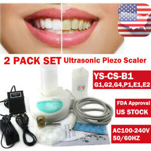 2x Scaling Cleaning Teeth Ultrasonic Scaler Handpiece Fit Ems Dental Piezo usa
