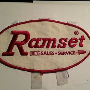 Ramset Sales Service Nail Gun Large Patch 7 Inches Cloth Rare