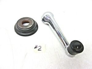 Willys Jeep Wagon Truck Window Crank Handle With Escutcheon Excellent 2