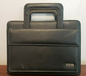 Day One Franklin Covey Black Classic Planner With Handles And Pockets