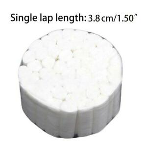 50pcs White Disposable Dental Cotton Rolls High Absorbent Non sterile For Nose