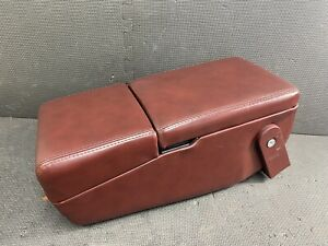 1992 1996 Buick Roadmaster Maroon Leather Center Console Cup Holder Armrest