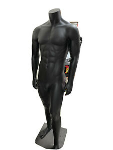 Male Full Body Black Plastic Athletic Sports Fitness Mannequin Local Pick Up