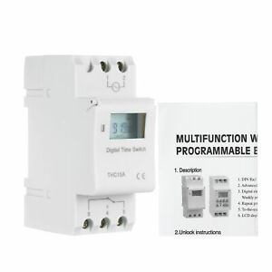 Digital Lcd Programmable Timer Switch Relay Ac Din Rail Mount L4i3