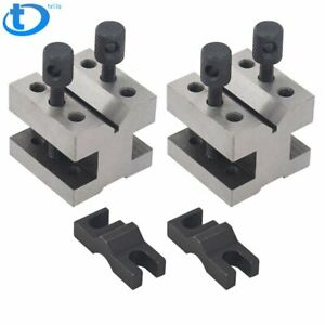 New 1 3 8x1 3 8x1 3 16 Precision V block Pair With Clamps