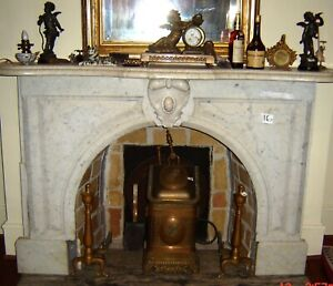 Antique Fireplace Mantle Carrera Marble Mantel 3