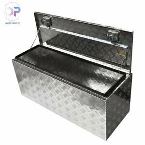 42 Inch Cuboid Silver Aluminum Truck Bed Tool Box For Trailer Rv Truck Pickup
