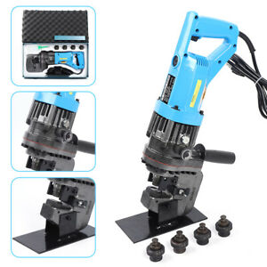 900w Electric Hydraulic Knockout Punch Sets 5 Dies Metal Punching Machine 10t