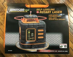 Johnson 40 6539 Red Self Leveling Rotary Laser Kit New In Package Free Shipping