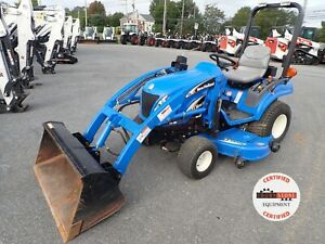 New Holland Tz24da Tractor W Loader Belly Mower 610 Hrs 4x4 Hydro 1 Owner